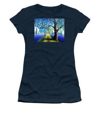 Between The Lavender Fields Women's T-Shirt