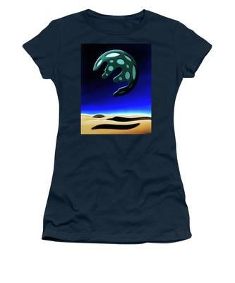 Green Moon Rising Women's T-Shirt