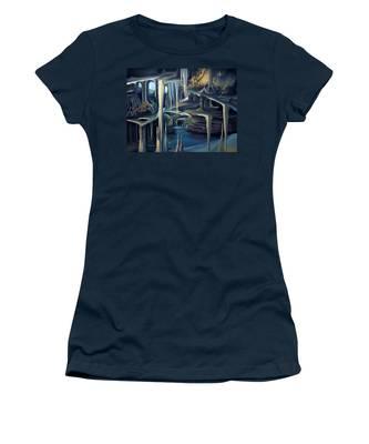Mural Ice Monks In November Women's T-Shirt
