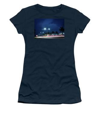 Night Lights In Montego Bay City Women's T-Shirt