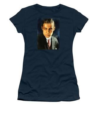 Portrait Of Rudolph Valentino Women's T-Shirt