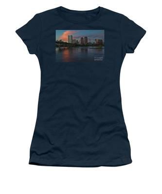 Women's T-Shirt featuring the photograph Richmond Dusk Skyline by Jemmy Archer