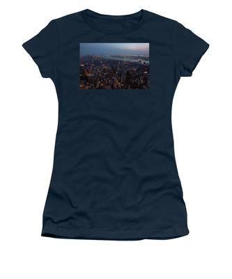 Dusk On New York City Women's T-Shirt