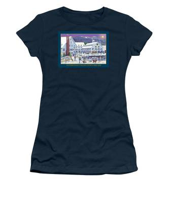 Waterville Valley At Wintertime Women's T-Shirt