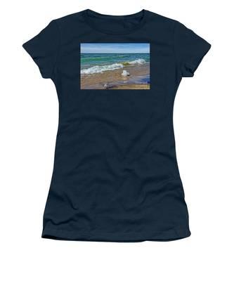 Waves Heading To A Beach Women's T-Shirt