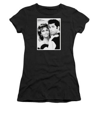 Olivia Newton John And John Travolta In Grease Collage Women's T-Shirt
