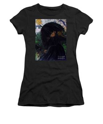 Women's T-Shirt featuring the painting The Widow by Laurie Lundquist