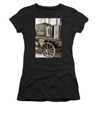 Train Station Luggage Cart Women's T-Shirt