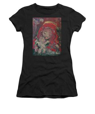 Women's T-Shirt featuring the painting Hope  by Laurie Lundquist