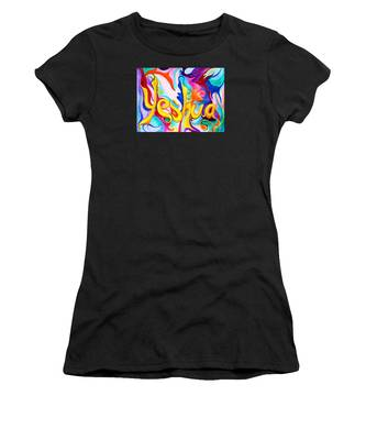 Women's T-Shirt featuring the painting Yeshua by Nancy Cupp
