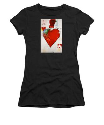 Ace Of Hearts 8-52 Women's T-Shirt by Cliff Spohn