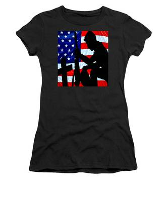 A Time To Remember American Flag At Rest Women's T-Shirt