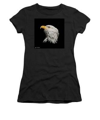Bald Eagle Looking Skyward Women's T-Shirt