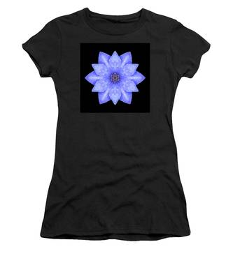 Blue Clematis Flower Mandala Women's T-Shirt