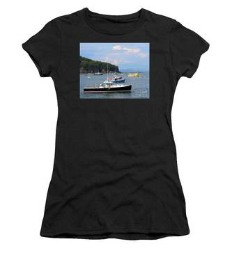 Women's T-Shirt featuring the photograph Boats In Bar Harbor by Jemmy Archer
