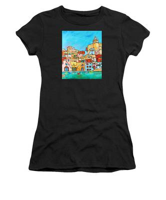 Boats In Front Of The Buildings Vii Women's T-Shirt