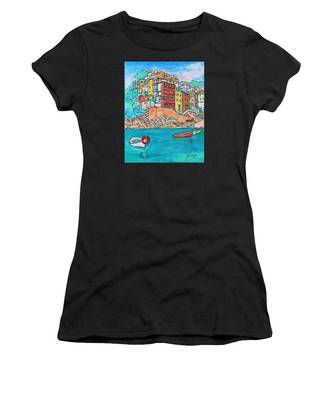 Boats In Front Of The Buildings X Women's T-Shirt