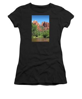 Women's T-Shirt featuring the photograph Cathedral Rock Sedona by Jemmy Archer