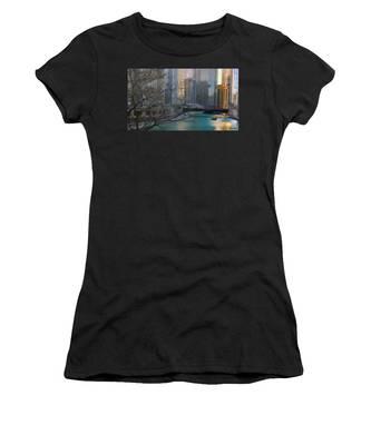 Chicago River Sunset Women's T-Shirt
