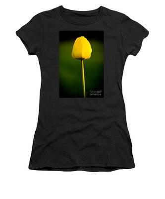 Closed Yellow Flower Women's T-Shirt