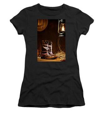 Cowboy Boots At The Ranch Women's T-Shirt