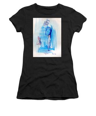 Women's T-Shirt featuring the painting Dreaming Of Pisa by Laurie Lundquist