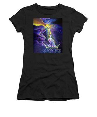 Women's T-Shirt featuring the painting Get Ready by Nancy Cupp
