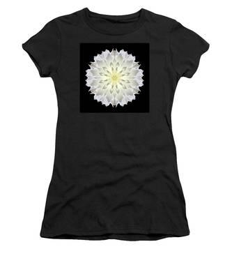 Giant White Dahlia Flower Mandala Women's T-Shirt