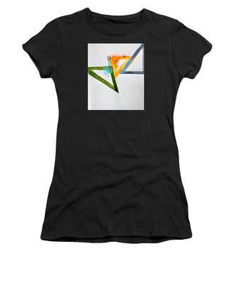 Women's T-Shirt featuring the painting High Noon by Cliff Spohn