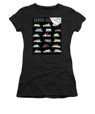 House & Garden Cover Illustration Of 18 Houses Women's T-Shirt