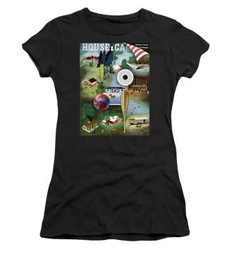 House And Garden Summer Camps And Cottages Cover Women's T-Shirt