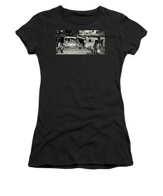 Man Woman And Schoolgirls Women's T-Shirt