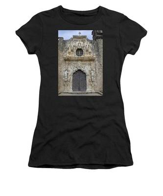 Women's T-Shirt featuring the photograph Mission San Jose Doorway by Jemmy Archer
