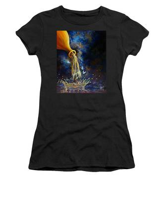 Women's T-Shirt featuring the painting Regeneration by Nancy Cupp