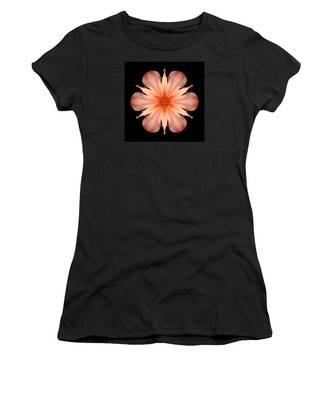 Salmon Daylily I Flower Mandala Women's T-Shirt
