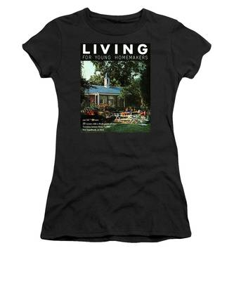 The Exterior Of A House And Patio Furniture Women's T-Shirt