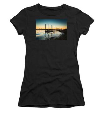 Wavy Sunset Kings Park New York Women's T-Shirt