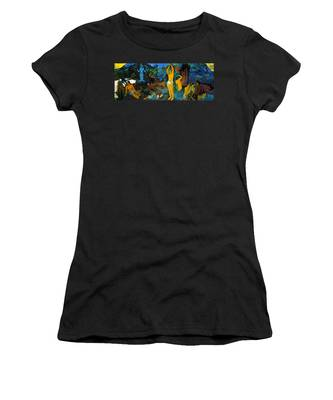 Where Do We Come From. What Are We Doing. Where Are We Going Women's T-Shirt
