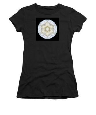 White Begonia II Flower Mandala Women's T-Shirt