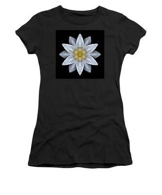 White Clematis Flower Mandala Women's T-Shirt