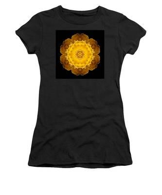 Yellow Tulip II Flower Mandala Women's T-Shirt