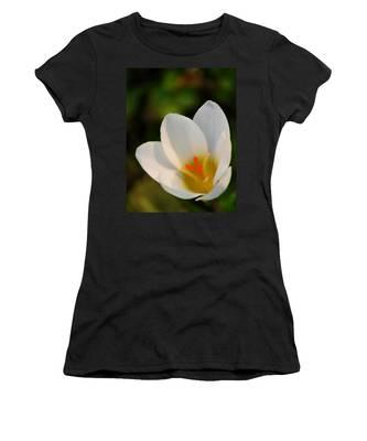 Pretty White Crocus Women's T-Shirt
