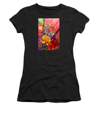 Women's T-Shirt featuring the painting Symphony by Nancy Cupp