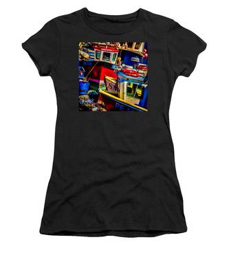 Women's T-Shirt featuring the photograph Fishing Fleet by Chris Lord