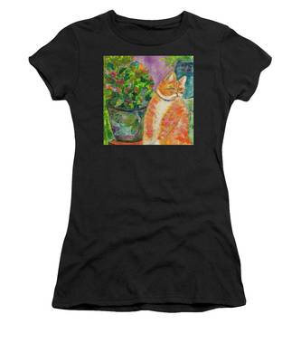 Ginger With Flowers Women's T-Shirt