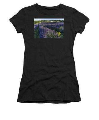 Women's T-Shirt featuring the photograph Lavender Field Provence  by Juergen Held