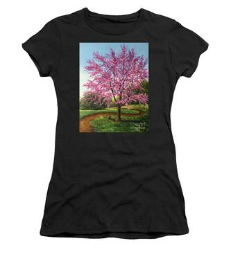Women's T-Shirt featuring the painting Love Is In The Air by Nancy Cupp