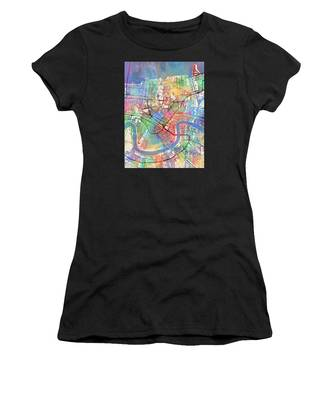 New Orleans Street Map Women's T-Shirt