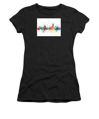 Barcelona Spain Skyline Women's T-Shirt