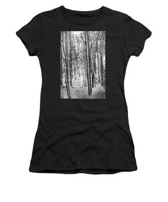 A Tree's View In Winter Women's T-Shirt